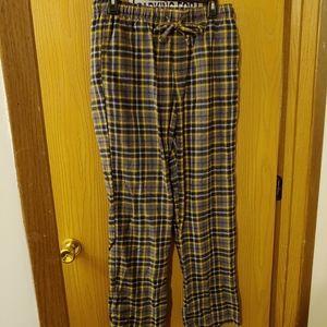 EUC yellow flannel plaid pajama pants